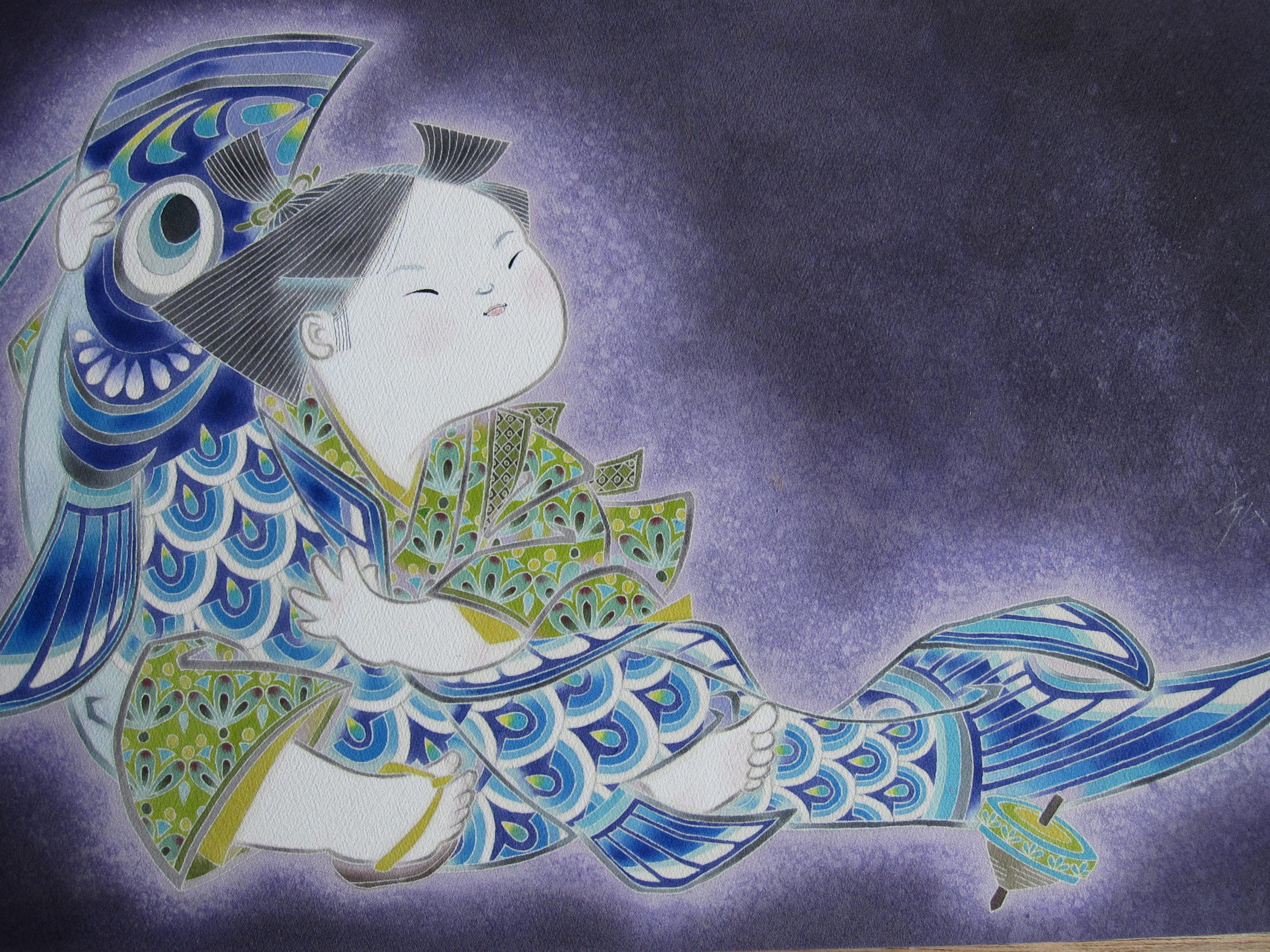 鯉のぼり・童子